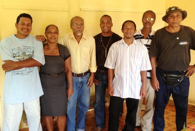 Chief Williams (3rd from left) with the Carib Reserve Council.